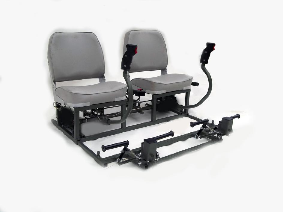 Dual Seat Helicopter Simulator Trainer Controls