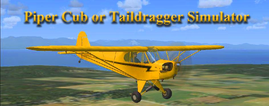 Taildragger Piper Cub Airplane  flight Simulator controls